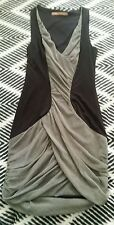 Designer COOPER ST Grey Black Stretch Sexy Evening Fitted Bodycon Dress 10