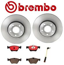 For Mercedes W211 Front Brake Kit Coated Disc Rotors Ceramic Pads with Sensor