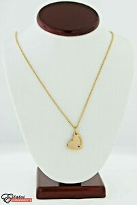 Tiffany & Co 18k Rose Gold Heart Tag Necklace with Ruby