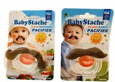BabyStache Baby Pacifier Kissable Professional Romeo NEW LOT OF 2