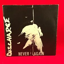 """DISCHARGE Never Again 1981 UK 3-track 7"""" vinyl single EXCELLENT CONDITION 45"""