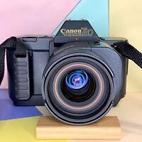 SUPERB CANON T80 35mm SLR FILM CAMERAS & Lenses Joblot Lomo Retro! Read More..