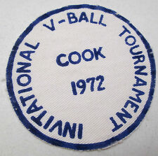 Vintage Cook Minnesota Invitational 1972 V-Ball Tournament Cloth Felt Patch