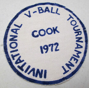 Vintage Cook Minnesota Invitational 1972 V Ball Tournament Cloth Felt Patch