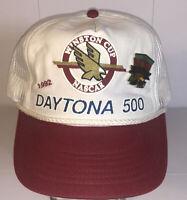 Vntg 1992 Winston Cup DAYTONA 500 Nascar Mesh Snapback Trucker Hat Cap Racing