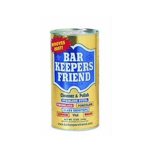 NEW Premium Bar Keeper's Friend Cleanser & Polish Non Bleach Formula 12 ounce