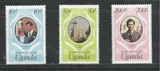 UGANDA # 314-316 MNH THE ROYAL WEDDING PRINCE CHARLES AND LADY DIANA