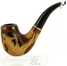 """Carved tobacco smoking pipe *Dragon* (Cooling filter) 
