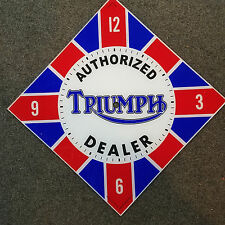 """*NEW* 15"""" DIAMOND TRIUMPH MOTORCYCLE DEALER OIL GAS GLASS clock FACE FOR PAM"""