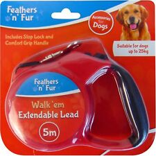 5 Metre Small Large Retractable Dog Leash Pet Walking Strong Lead Nylon Stop Loc
