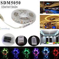 0.5-2M Waterproof SMD 5050 LED USB RGB Strip 30leds/m Flexible Tape Rope Light