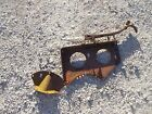 Farmall B Tractor IH seat assembly pan bracket to platform foot mount & spring