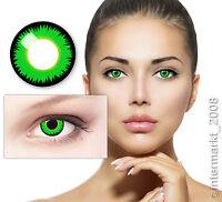 Farbige Crazy Fun Halloween Kontaktlinsen Color Contact lenses - GREEN WEREWOLF