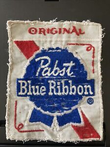 Vintage Original Pabst Blue Ribbon Patch - well used!