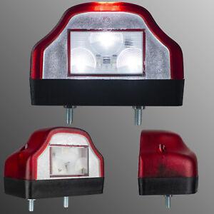 Led Kennzeichenleuchte Nummernschildbeleuchtung Rückleuchte 12V 24V LKW Anhänger
