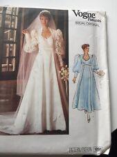 Vogue UNCUT Bridal Pattern Size 12