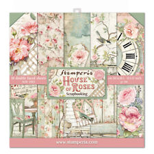 "NEW Stamperia 12"" x 12"" Paper Sheets House of Roses"