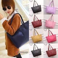 Womens Large Hobo Shoulder Bag Tote Purse PU Leather Beach Messenger Handbag New