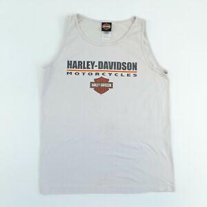 Vintage Harley Davidson T-Shirt Vest Grey L Sleeveless