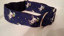 Greyhound/ Lurcher House Collar - Unicorn navy
