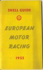 Shell Guia De europea del automóvil de carreras 1952 Grand Prix Le Mans Tourist Trophy +