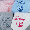 Personalised Puppy Dog Comfort Blanket for Pets Sherpa Fleece Small Mini Size