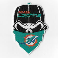 Miami Dolphins Iron on Patches Embroidered Badge Patch Applique Skull Mask FN