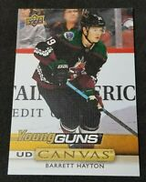 2019-20 Upper Deck Barrett Hayton RC Canvas Young Guns #C222 Coyotes