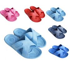 Womens lady Slip On Sport Slide Sandal Flip Flop Shower Shoes Slippers Pool Gym