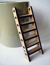 Miniature ladder skirting board size. Small MDF ladder craft embellishment wood