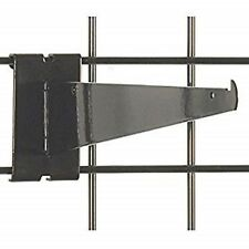 "Only Hangers 12"" Gridwall Knife Shelf Brackets With Lip - Black 40 pcs"