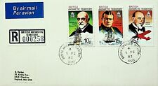 BRITISH ANTARCTIC TERRITORY 1982 EXPLORERS PORTRAITS 3v ON AIRMAIL COVER TO USA