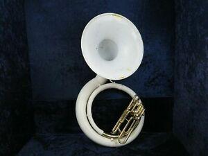 Jupiter JSH-596-696 BBb Fiberglass Sousaphone Ser#003399 Plays Great!