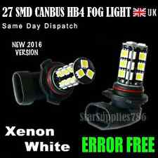 2x HB4 27 SMD CANBUS FOG LIGHT LED BULB ERROR FREE XENON WHITE HB4 FOGLIGHT LED