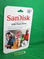 SanDisk 16GB Cruzer Orbit USB Flash Drive 3 Piece Pack Set Sealed