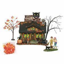Department 56 Halloween Village The Black Cat Flat Set/4 6000661 Dept 56 Bnib