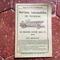 catalogue prix Nice Ballon d'Alsace Services Automobiles de Tourisme été 1921