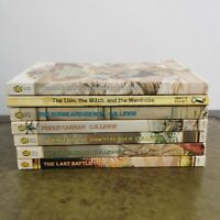 Vintage full set of C.S.Lewis chronicles of narnia Childrens books. 1980s lions.