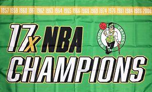 Boston Celtics NBA Championship Flag 3x5 ft Green Sports Banner Man-Cave Garage