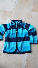 * Süße blau gestreifte Fleece Jacke TCM Gr. 86 Jungs *