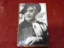 How to Have a Lifestyle Quentin Crisp Signed Inscribed First edition Dust Jacket