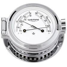 Wempe Chronometer Comfortmeter Nautik Chrom Ø 120mm - Thermometer Hygrometer