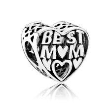 Genuine Pandora Charm Sterling Silver Best Mum Openwork 791882