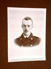 Georg Alexandrovitch nel 1899 Granduca ereditario di Russia Nato Tzarskoie 1871