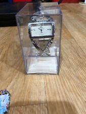 Cb3) Denacci Quartz Women Watch Swis Made Stainless Steel And Leather Band