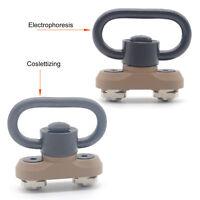 Push Botton 1.25'' QD Sling Swivel Kit w/ M-lok Rail Attachment_Black/Tan Color