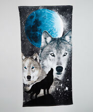 "Wolves Towel Wolf Wild Dog Moon Beach Pool Souvenir 30""x60"""