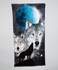 "Wolves Towel Wolf Wild Dog Moon Beach Pool Souvenir 30""x60"""