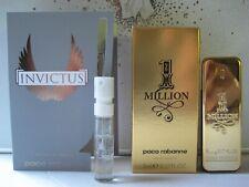 Paco Rabanne 1 ONE MILLION EDT Men 0.17oz/ 5ml Splash Mini New In Box + INVICTUS