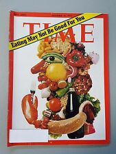 Time Magazine December 18 1972 Eating May Not Be Good For You - Weekly
